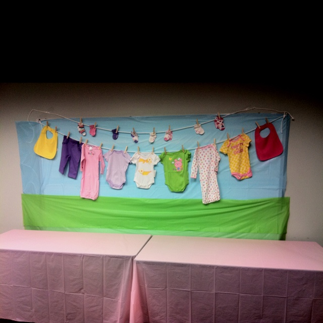 Baby shower decoration in office meeting room for the for Baby room decoration games