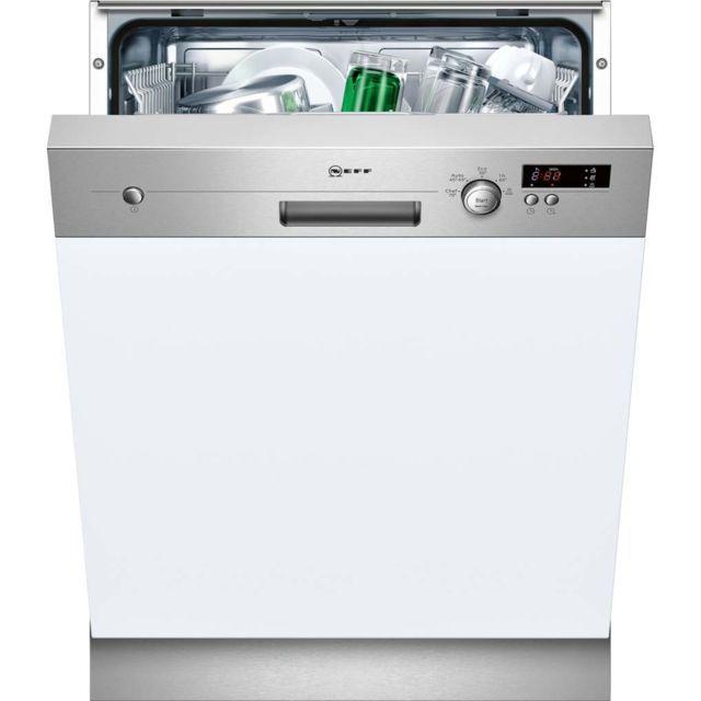 Neff Lave Vaisselle 60cm 12 Couverts A Integrable Avec Bandeau Apparent Inox S411a50s0e Mini Lave Vaisselle Encastrable Lave Vaisselle Et Lave Vaisselle Siemens