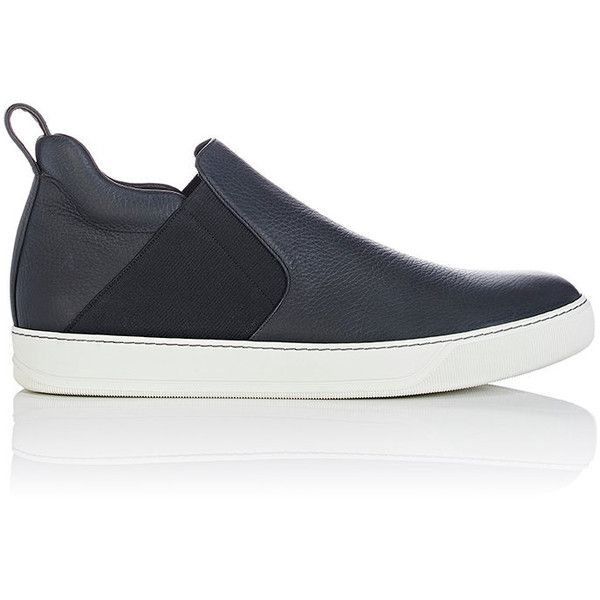 Lanvin Men's Slip-On Mid-Top Sneakers (2.040 BRL) ❤ liked on Polyvore featuring men's fashion, men's shoes, men's sneakers, black, mens black slip on shoes, lanvin men's sneakers, mens slip on sneakers, mens slipon shoes and mens shoes