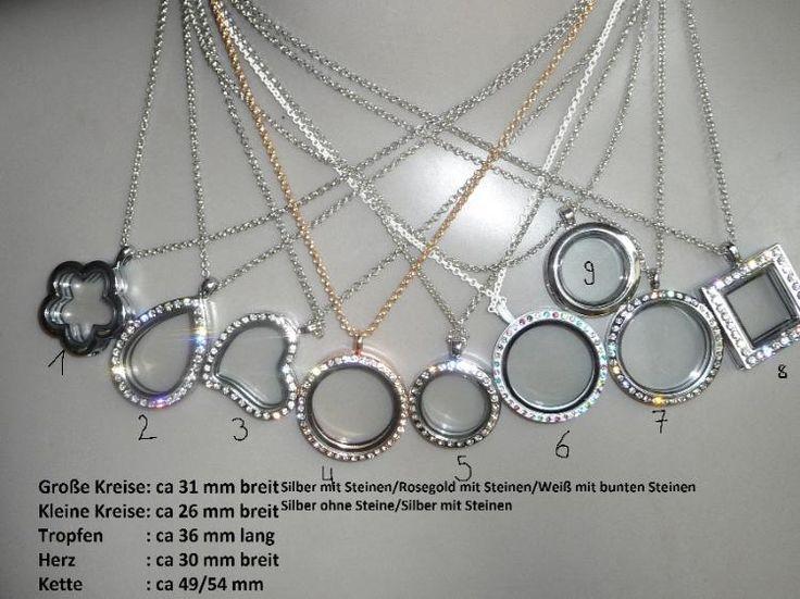 Kette Medaillon Silber Glas Charms zu befüllen wie Bettelarmband