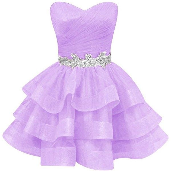 WYcc Women's Ruffle Beads Sequined Homecoming Dresses Short Organza... ($58) ❤ liked on Polyvore featuring dresses, purple homecoming dresses, formal dresses, purple sequin dress, purple prom dresses and sweetheart neckline prom dresses