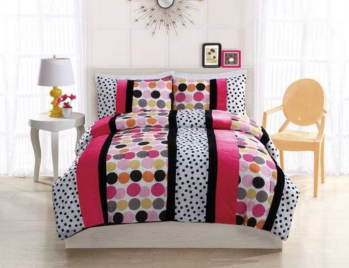 17 best images about teenage girl bedding on pinterest for Polka dot bedroom ideas