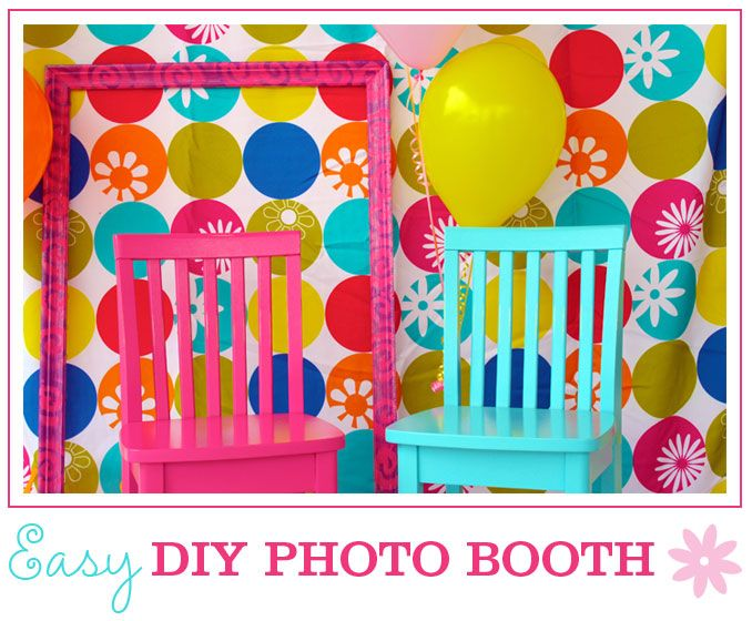 Easy DIY Photo Booth: Photos, Diy Photo, Kids Parties, 1St Birthday Parties, Chairs, Photo Booths, Parties Ideas, Photo Backdrops, Easy Diy