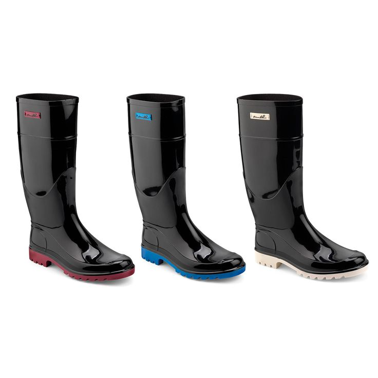 Classic Wellington boots in two colour bright pvc