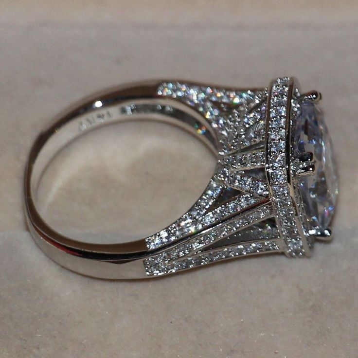 Cheap jewelry star, Buy Quality jewelry replicas directly from China jewelry gift boxes free shipping Suppliers:   Brand Desgin Diamonique 14kt white gold filled Big Topz Wedding Pave Ring gift DESCRPTIONMaterial:14kt white gold fill