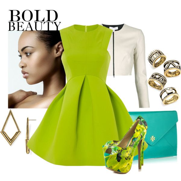 BOLD BEAUTY by kioriknight on Polyvore featuring Narciso Rodriguez, Shoe Republic LA, Tory Burch and BaubleBar