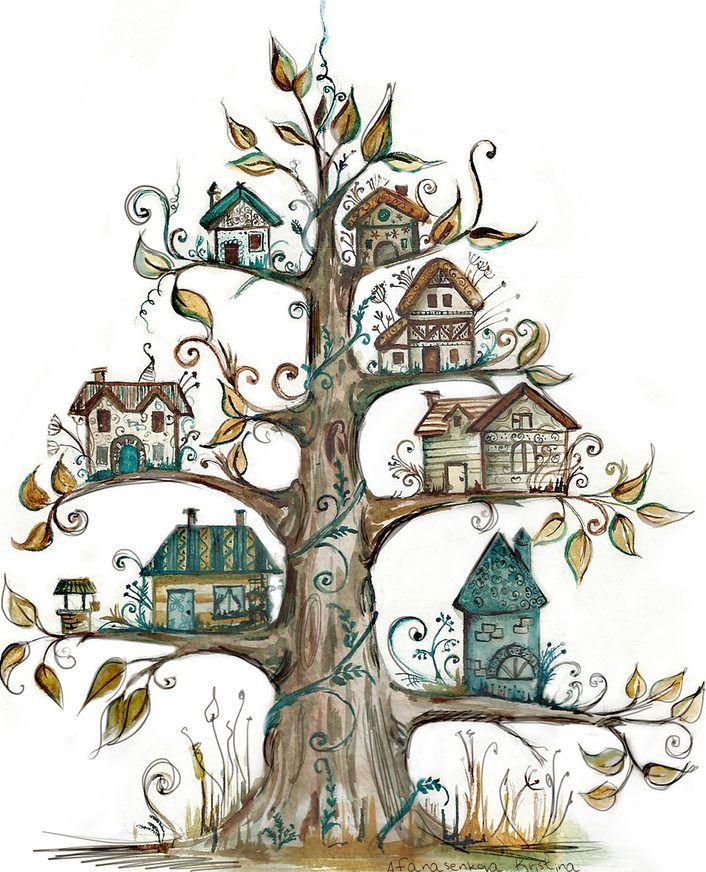 Рисунок сказочного дерева
