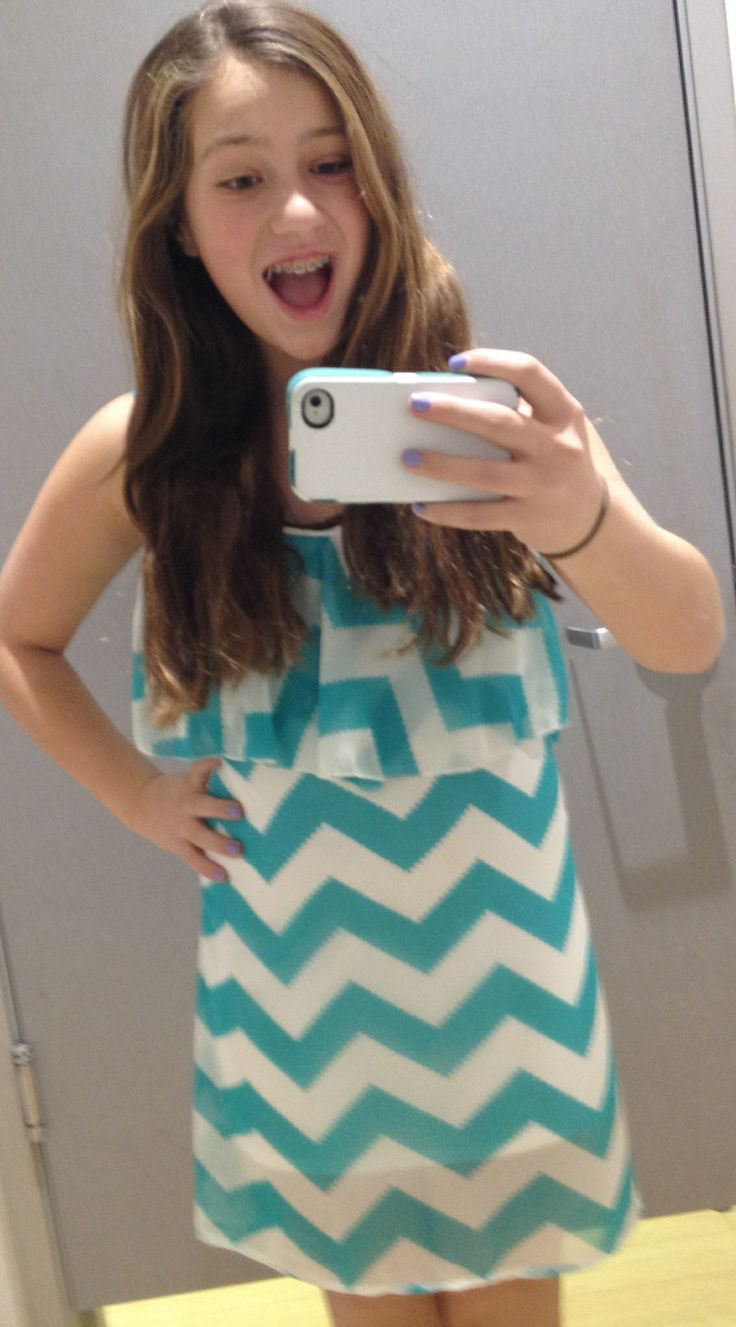 pre teens Cute chevron stripe summer dress from Charlotte Russe. Adorable for teens.