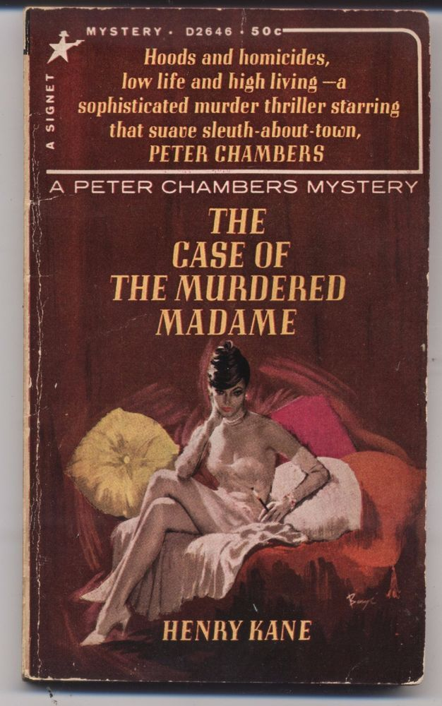 The Case of the Murdered Madame Henry Kane 1965 paperback Peter Chambers