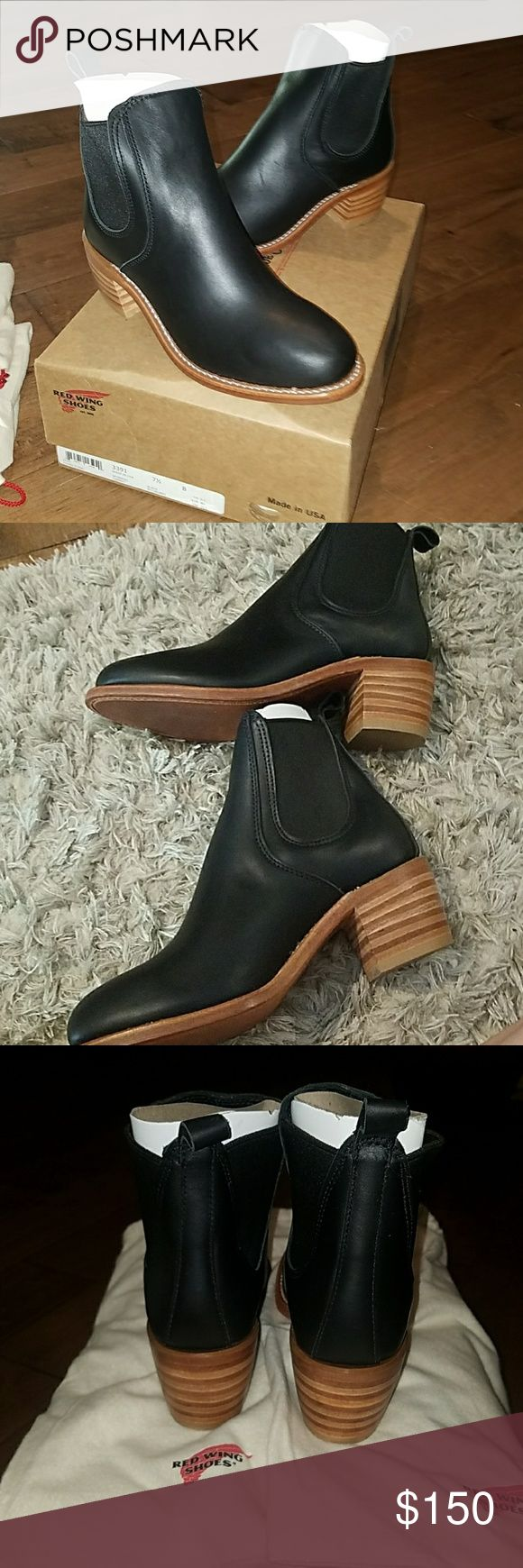 Redwing women's Harriet black boundary boots Black redwing boots Red Wing Shoes Shoes