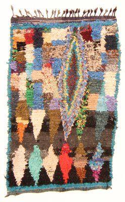 Marokkaanse Berber tapijt Boucherouite 170 x 100 cm