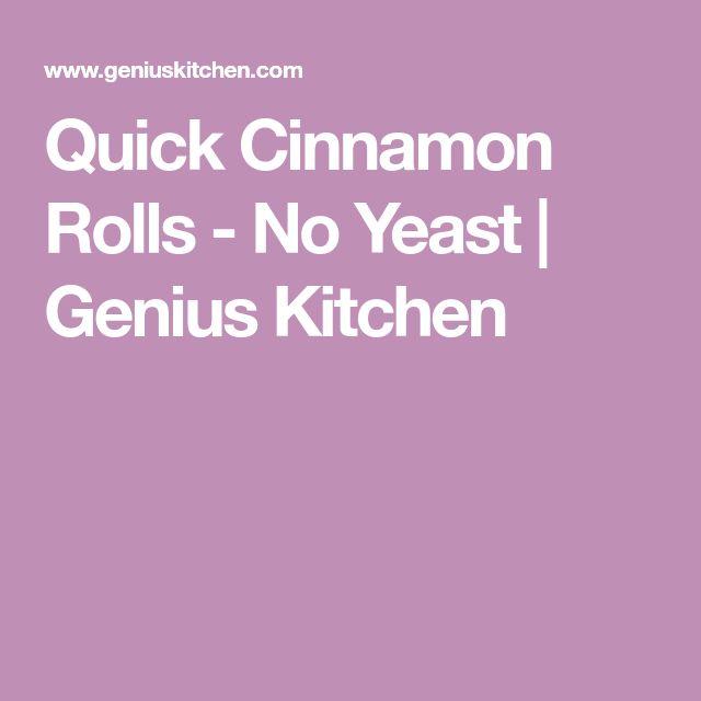 Quick Cinnamon Rolls - No Yeast | Genius Kitchen