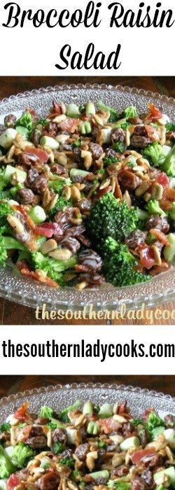 Broccoli Raisin Salad with dressing I like