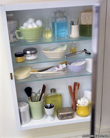 cute containers for the bathroom cabinet.