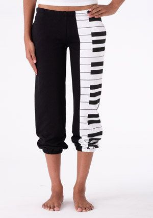 Piano Keyboard sweats/trackie bottoms. #fashion #style #music #sweatpants #musicfashion http://www.pinterest.com/TheHitman14/hey-ladies-musical-fashion/