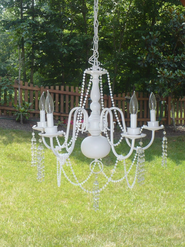 16 best lighting dy projects images on pinterest chandeliers i turned my old shiny brass chandelier into a shabby chic light for my porch mozeypictures Choice Image