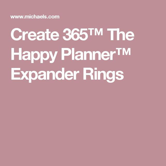 Create 365™ The Happy Planner™ Expander Rings