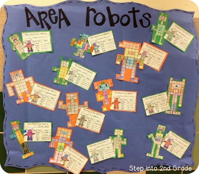 A simple activity on area using grid paper. Students can draw their own robots or utilise individual coloured squares of grid paper.