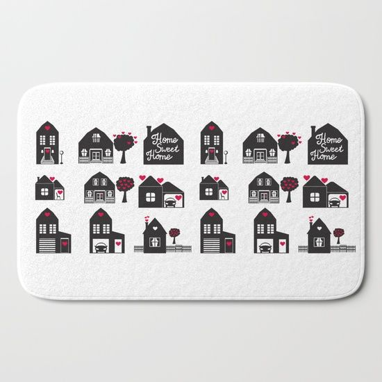 Home Sweet Home. Dreams and Memories. Bath Mat