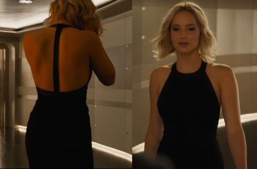 Jennifer Lawrence in Passengers. Love, love, love that dress!