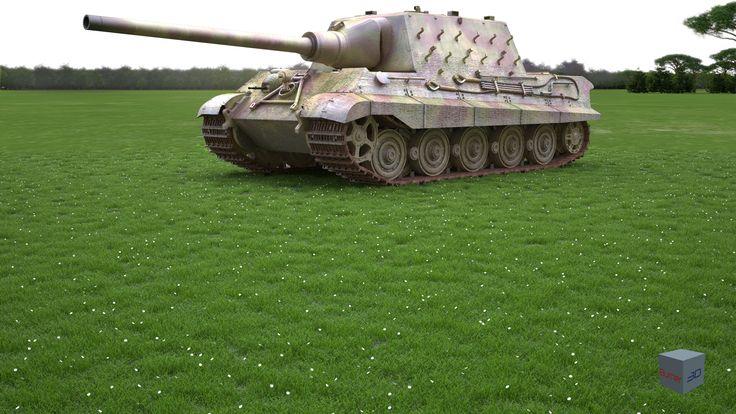 Jagdtiger (henschel) 3d model