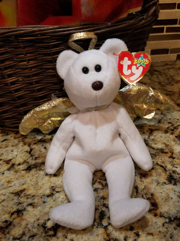 TY  beanie baby halo II  (RARE) by GoodsVintageFinds on Etsy