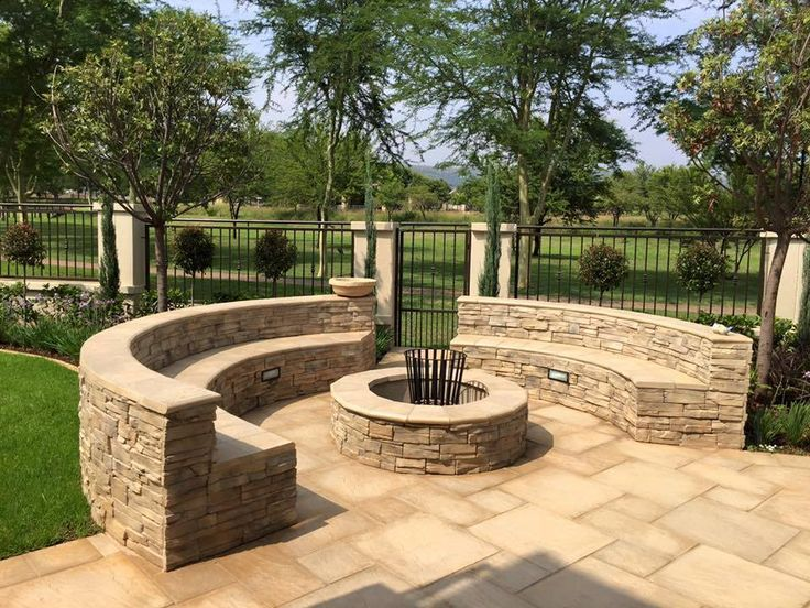Boma fire pit and landscaping from Living Green Landscapes