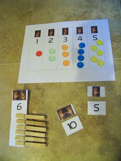 Finger Counting Printables | Math Ideas | Pinterest