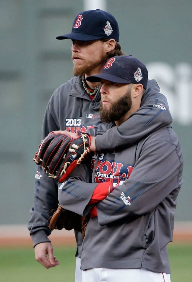 Clay Buchholz and Dustin Pedroia before Game 6 #RedSox