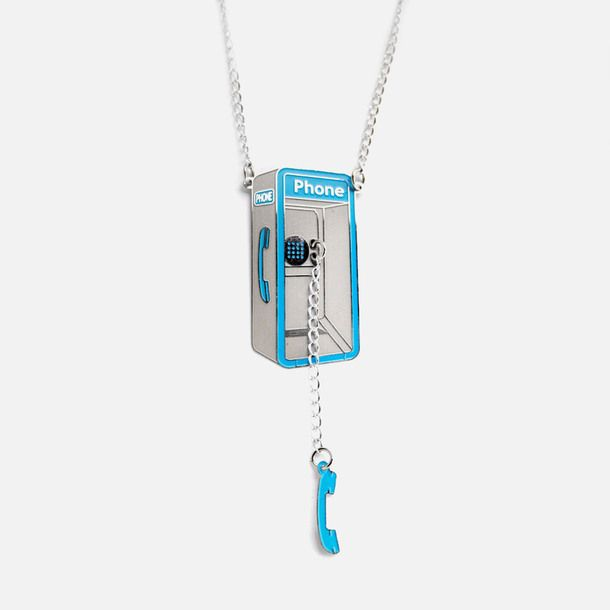 Payphone Necklace Blue by  Design Glut