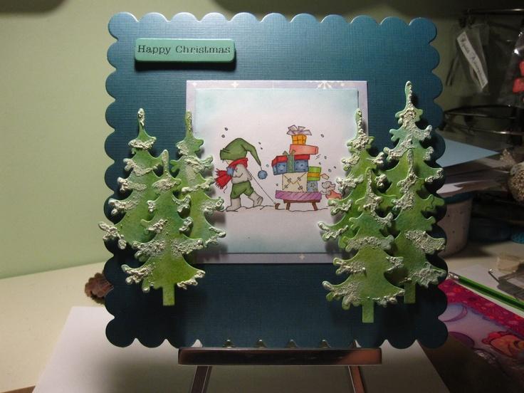 SIIRIN VÄKERRYSNURKKA: Joulukortti