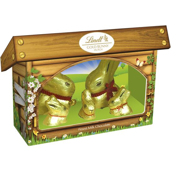 NEW Lindt Gold Bunny & Family Hutch 130g #WinEasterChocolateWithLindt