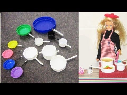 How to make pots and pans for any doll- Barbie, Monster High, American Girl, Bratz etc