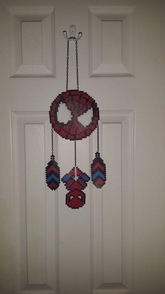 Spiderman Perler Bead Wall Hanging