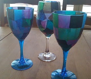Corpus Christi Mosaic Craft- Make a chalice.  You can also decorate the chalices with sequins, rhinestones, glitter, etc.