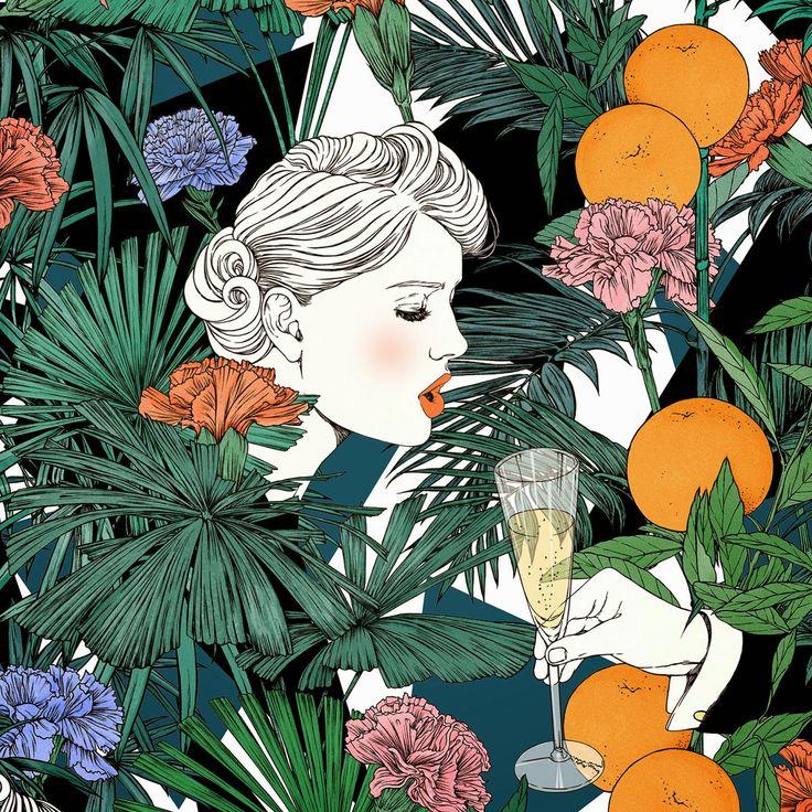 été 1981: Champagne & Cigarettes, détail (Delphine Cauly)
