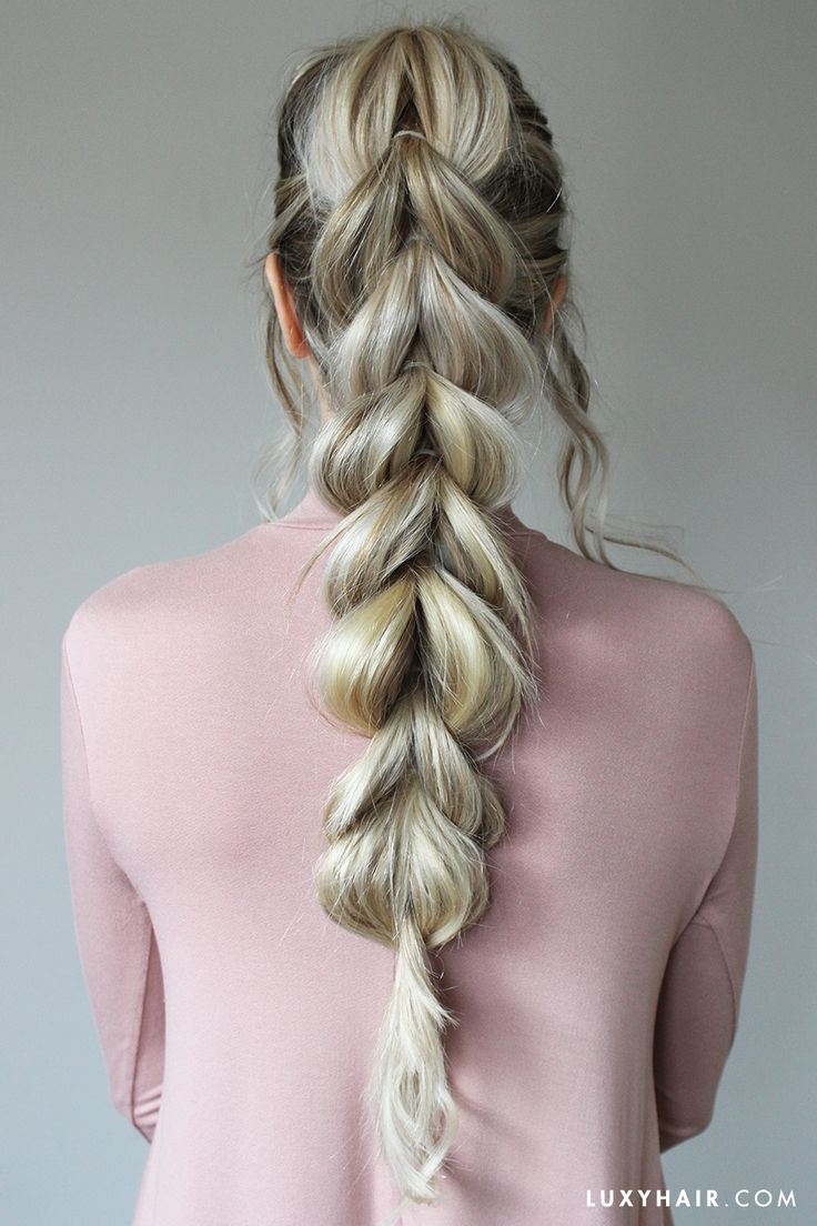 Ash Blonde Luxy Hair Extensions Add Volume And Length To This Pullthrough  Braid!
