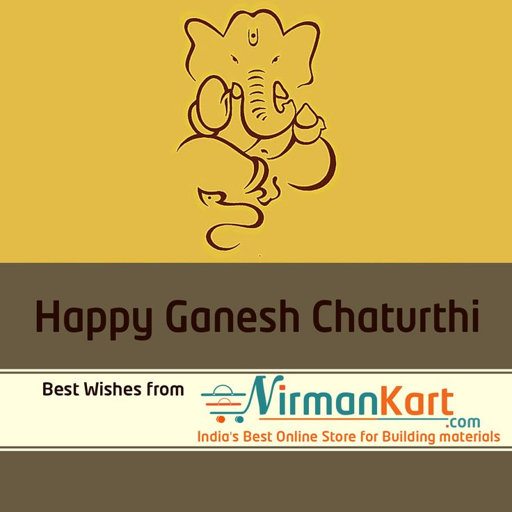 May Lord Ganesha bless you with peace, happiness and prosperity.  Avail lightning offers on occasion of Ganesh Chaturthi from NirmanKart.com.  Visit www.nirmankart.com