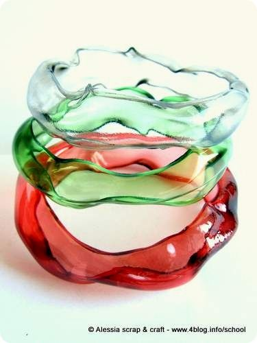 Gelly Bangles made from plastic bottles