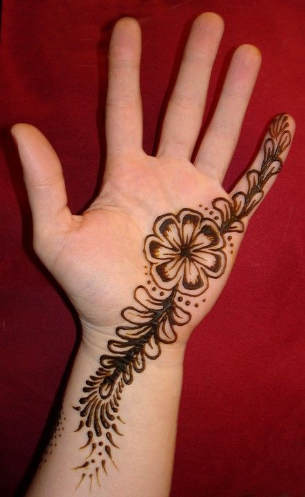 Simple Mehndi Patterns On Paper : Easy mehndi designs patterns images book for hand dresses