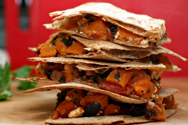 Sweet Potato And Black Bean Quesadillas With Swiss Chard ...