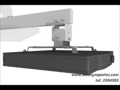 Base soporte de pared para video proyector o videobeam de tiro corto sho...