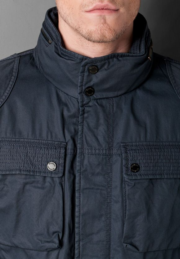 strellson field jacket in navy available at bogart. Black Bedroom Furniture Sets. Home Design Ideas