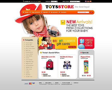 Toys Store osCommerce Templates by Delta