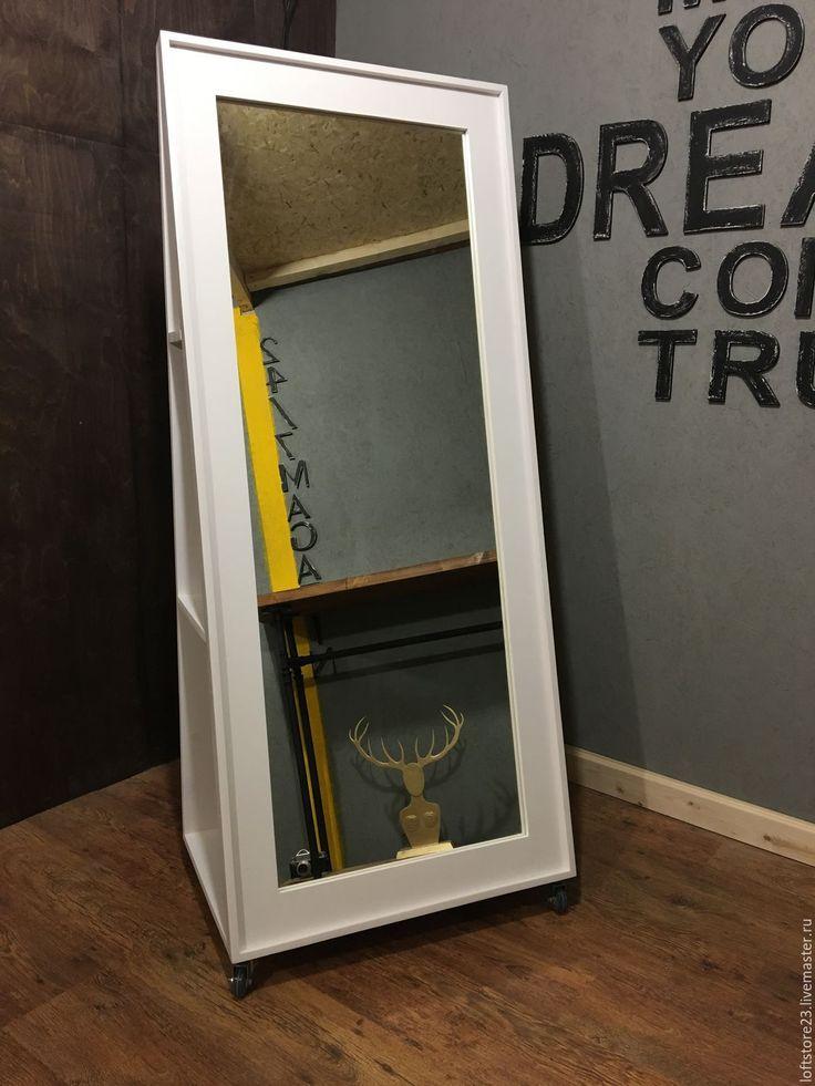 Купить Зеркало напольное NEWFANGLED. - белый, зеркало, зеркало с полками, белое зеркало, зеркало в интерьере
