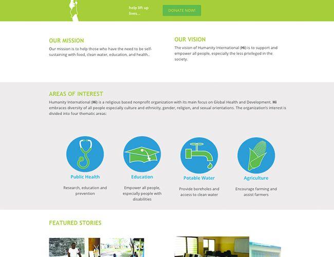 Humanity International, Calgary website design by Kreative Kekeli Design & Marketing