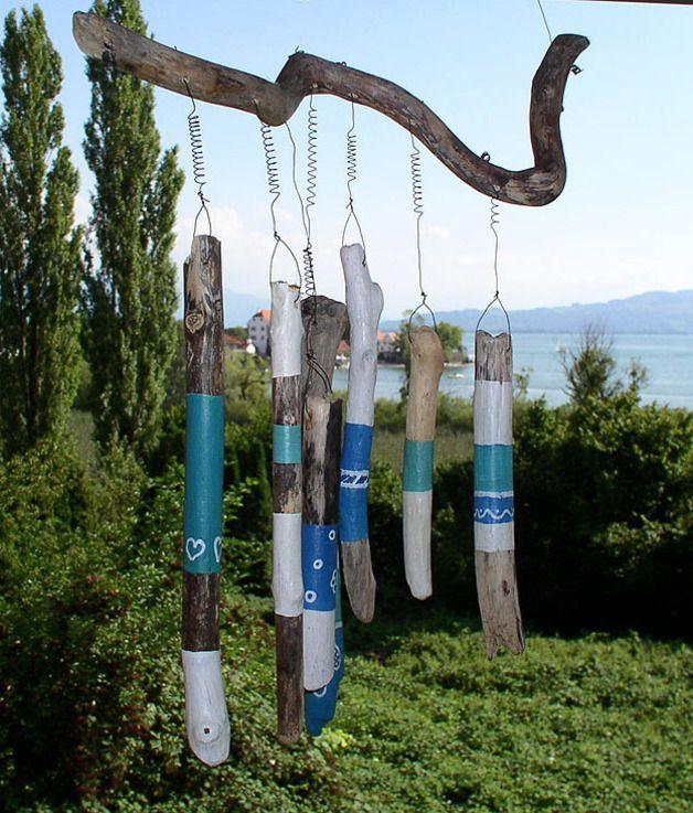 Windspiele - Windspiel ROMANCE aus Treibholz - ein Designerstück von treibholz-insulanerin bei DaWanda
