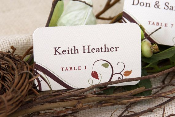 Fall Leaves Escort Cards Get Started Deposit by nestingprojectwed, $35.00