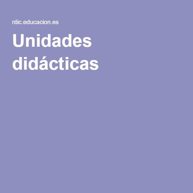 Unidades didácticas