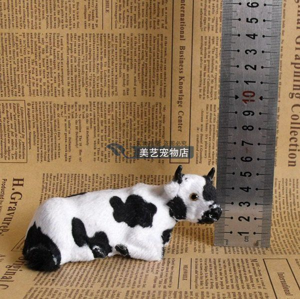 cute simulation cow toy polyethylene & furs handicraft lying cow doll gift about 12x5x6cm //Price: $US $9.72 & FREE Shipping //     #toyz24